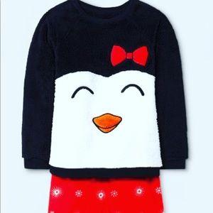Cat & Jack Girls Penguin Pajama Set, Size: 10/12